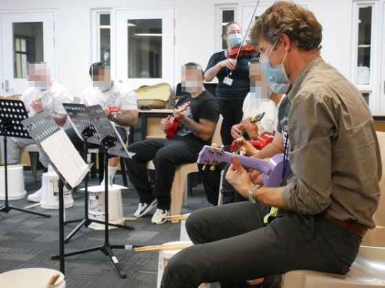 Men at Christchurch Men's Prison have been experiencing the joys of making music as part of the Christchurch Symphony Orchestra Community Engagement programme.