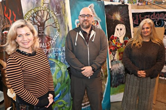 Director of the Redemption Performing Arts and Education and the Tuakana Teina Peer Mentoring Programmes, Beth Hill (left), and her fellow facilitators, Scott Picken and Sarah Parker.