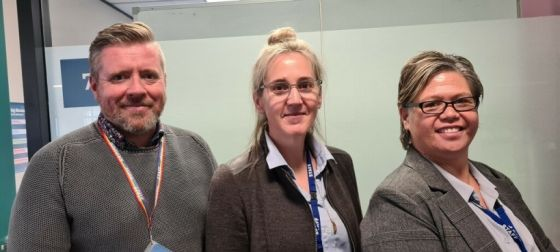 Three new Clinical Managers Mental Health (L-R): Martin Quinn, Victoria Weedon, May Pritchard.
