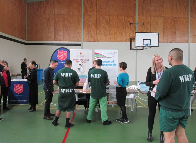 Young men attending the youth expo at Rimutaka Prison.